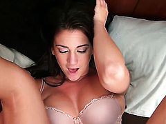 Bella Rose plays with herself to orgasm in solo scene