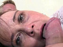 Drunken mommy has her crotch bumped