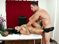 Gulliana Alexis spreads her pussy lips invitingly in steamy hardcore action with Johnny Castle