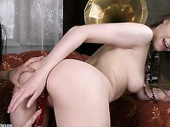 Brunette Beata Undine with massive knockers takes Betty s fingers in her snatch