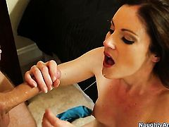 Danny Wylde plays with soaking wet beaver of Samantha Ryan before he fucks her hard