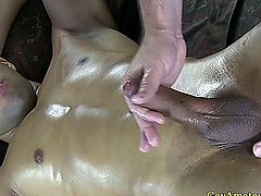 Gaystraight amateur has his cock sucked and ass toyed
