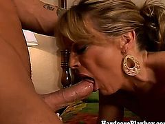 Glamcore blonde babe pounded with cock after getting eaten out