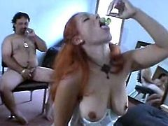 Hot wife's fucking orgy