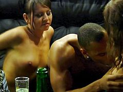 A few bitches with incredible bodies have gathered to have fun at a sex party. They slowly get rid of their elegant dresses to show off their tits and crazy russian asses. Click to see the horny ladies sucking cock and getting laid!