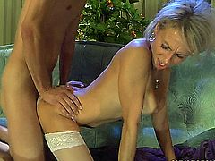 blonde stepmom gets treated well by her son.