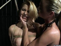 Blonde Cindy Hope is curious about eating Dorina Golds lesbian sweet pussy