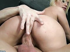 Blonde chick Bibi Noel makes a dirty dream of never-ending anal sex a reality