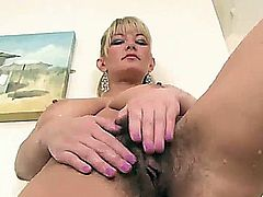 sexy hairy mature blonde vanessa shower