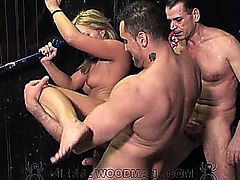VALENTINA BLUE has group sex in a public bathroom. This video is in 720 HD format.