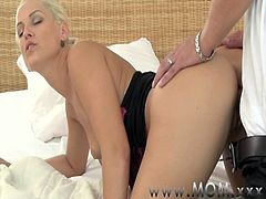 MOM Horny Blonde MILF craves his Cock