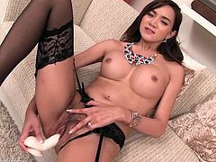 Ladyboy Pussy brings you a hell of a free porn video where you can see how this wild Post-op Ladyboy dildos her new pink cunt into a massively intense orgasm.