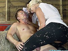 Victoria Summers shares the stablehands cock with Ava Dalush