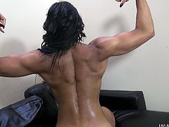 This dirty slut gets pounded hard from behind with her man's giant cock. The creole babe sucks on his cock to taste her own pussy juice. She sucks on his balls and then takes his cock in her pussy some more.