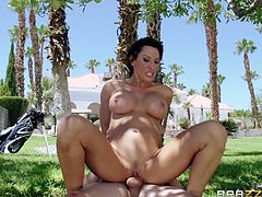 Lezley Zen wanted to be taught on how to play golf but she gets a different lesson. She gets banged pussy hardcore with a cumshot.