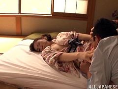 Emiko Koike gets her partner fuck her shaved pussy rough and wild. She likes to suck the cock for a hot blowjob.