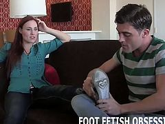 Compilation of amateur chicks with female domination personality to let you help them obtain their foot fetish by letting you suck and lick on their sweet little toes.