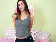 Karup's Hometown Amateurs brings you a hell of a free porn video where you can see how the sensual slut Teddi Rae dildos her sweet cunt into a massively intense orgasm.