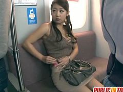 Satomi Suzuki is so adorable and innocent looking yet so naughty and kinky. Her huge boobies and her cute face are the reasons why she got exploited in the public train forcing her to vibes her hairy pussy and giving blowjob.