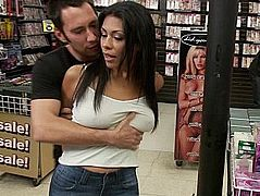 Cassandra Cruz gets punished in public place