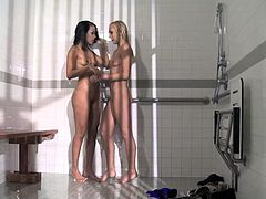 Natasha and Layla are a couple of young sexy party crazy, but tonight they partied a bit too much and find themselves behind bars. The two divas have never been locked up before and don' t know what to expect?