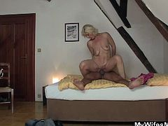 Thick young cock for granny and she's loving it. She goes shameless with every moves this boy gives her. There is  no way you can resist her horny tricks on camera.