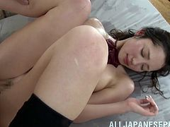 Erika Momotani is home from school but never expected to get fucked in her wet pussy hardcore.