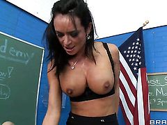 Franceska Jaimes is totally happy to be mouth fucked by Xander Corvus over and over again