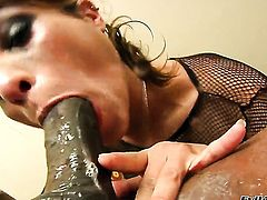 Prince Yahshua turns Jonni Darkko on and takes his sausage in her mouth