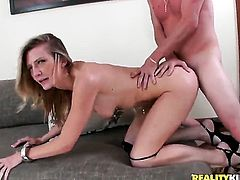 Blonde Amanda Tate gives pussy to horny as hell guy