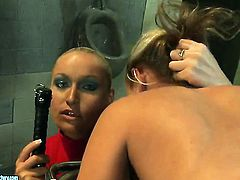 Blonde Kathia Nobili finds herself getting her cunt eaten by lesbian Bianca Arden