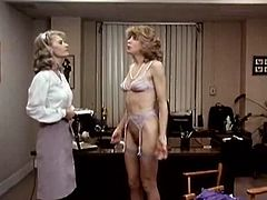 Classic Porn Scenes brings you a hell of a free porn video where you can see how two blonde vintage lesbian go wild together while playing with a strap-on.