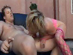 Stocking Clad pussy bumped And orgasmed onto