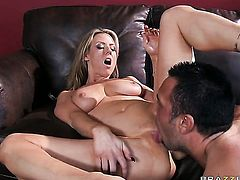 Carolyn Reese with juicy hooters getting boned good and hard by Keiran Lees rock hard love stick