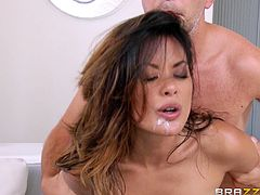 This is a hot bang scene with a huge cock and Kaylani Lei's hot Asian pussy getting fucked hardcore doggystyle in hot orgasm.