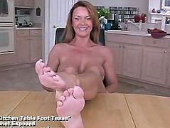 Kitchen Table Foot Tease