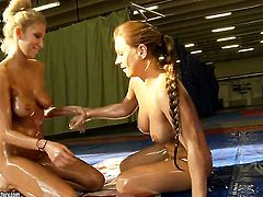 Blonde Lana S with big tits and Sophie Lynx enjoy lesbian sex session they will never forget