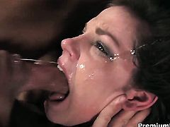 Bobbi Starr gets her many times used mouth stuffed again by horny man