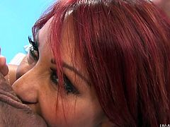 Two milfs are having great fun in cock sucking competitions! The redhead bitch and her blonde companion take care of the guys's dicks and balls with devotion and passion, trying their best to please 'em. Their huge breasts are a big turn on as well. Click to see them engaged in exciting deep throat blowjobs!