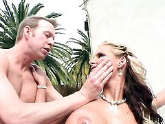 Phoenix Marie gets her mouth fucked literally to death by Mark Wood before she takes it in her bum