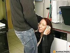 Fucks his maid in the pantry