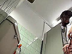 Pervert molests shy Girl on a public toilet