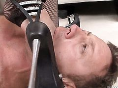 Abbie Cat screams from ednless orgasms after taking Rocco Siffredis throbbing man meat in her butt