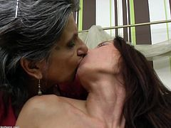 this young lesbian is about to get a lesson from this old bitch. The old granny has done it thousands of times before, so she knows how to eat pussy. The young girl loves it when the old maid eats that sweet cunt from behind. They kiss and make love.