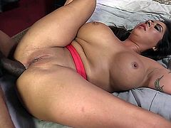 Candi Coxx Filled With Two Black Cocks