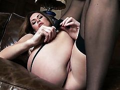 With huge jugs and clean muff touches her wet spot playfully