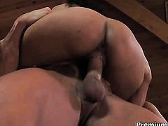 Latin Havana Ginger with juicy tits spreads her ass cheeks for hot fuck buddy