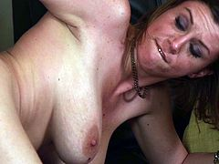 Marvelous pornstar couple kissing then she gives him a terrific blowjob before yelling in pleasure as she gets hammered hardcore