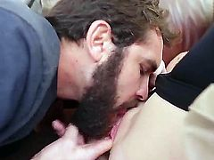 Hardcore fantasy as this young man gets the chance to fuck his dads sexy girlfriend. Staring Daniel Hunter and Kiera Winters. Hot action as this beautiful babe with small tits, and a small ass, gets her tight pussy fingered and licked before finally, getting fucked by is hard excited cock.