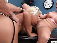 Johnny Sins has a good time banging sexy Jacky Joy  Christie Stevenss mouth